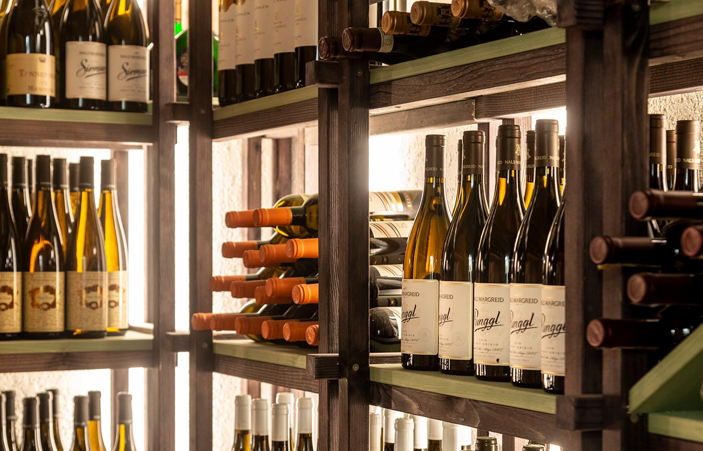 the equipped wine cellar of the Hotel Rosskopf in Sterzing